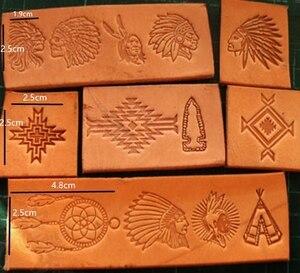 Image 5 - 13pcs הודי תרבותית אלמנטים דפוס יד עבודה ייחודי עיצוב גילוף אגרופים חותמת קרפט עור עם עור גילוף כלים