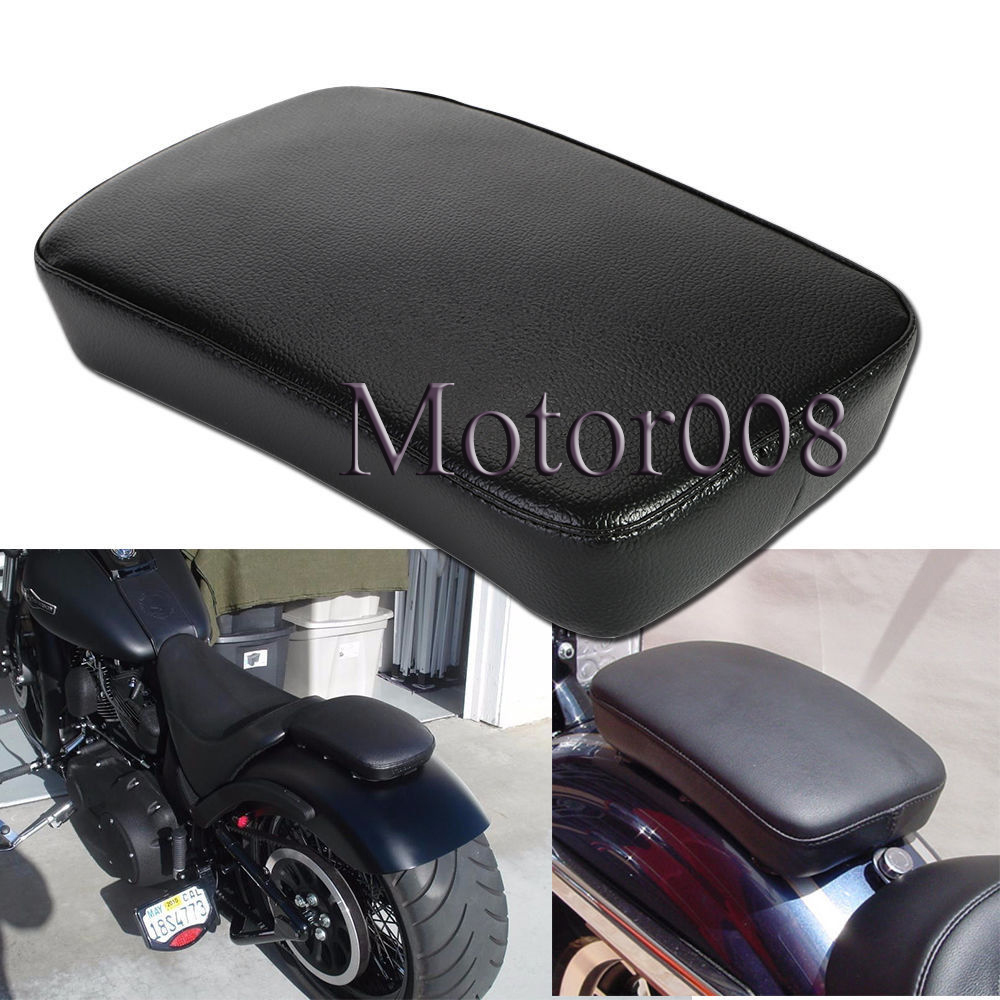 High Qulity Black Rear Fender Passenger Pillion Pad Seat 6 Suction Cup For Harley Softai ...