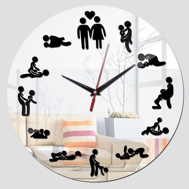 Elegant 2016 New Wall Home Art Acrylic Stickers Bedroom Clock Wall Clocks De  Horloge Quartz Watch Modern