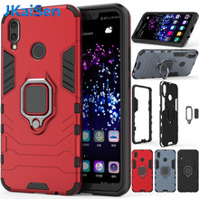 For Huawei P30 P20 Lite Pro Case Armor Ring Magnetic Car Hold Shockproof Soft Bumper Cover For Honor 8X 10 Mate 10 20 Lite Case(China)