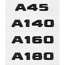 Auto Decoration Sticker For Mercedes A45 A140 A160 A180 A200 A220 A250 A260 Benz W176 W203 W212 W213 Accessory Metal Black