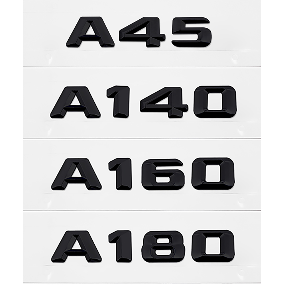 Auto Decoration Sticker For <font><b>Mercedes</b></font> A45 <font><b>A140</b></font> A160 A180 A200 A220 A250 A260 For Benz W176 W203 W212 W213 Accessory Metal Black image