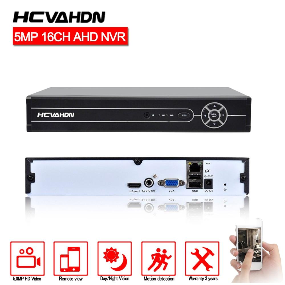 HCVAHDN NVR 16CH 5MP H.265 CCTV NVR Security Video Surveillance Recorder 16CH 5MP 8CH 4MP 4CH HDMI Output Motion DetectionHCVAHDN NVR 16CH 5MP H.265 CCTV NVR Security Video Surveillance Recorder 16CH 5MP 8CH 4MP 4CH HDMI Output Motion Detection