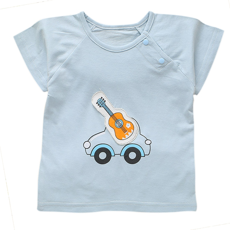 2018 Baby Girls T shirts Cotton Baby Girl Short Sleeve Kids Cloths