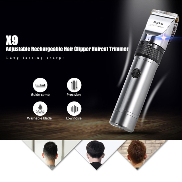 RIWA Professional Hair Clipper X9 With Original Packaging Blade Hair Cutting Machine For Barber Hair Trimmer rechargeable hair clipper with accessories set 220 240v ac