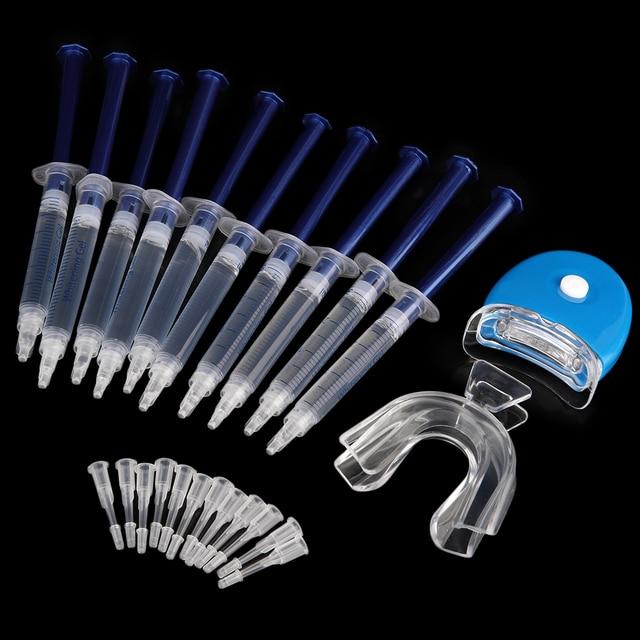 Professional Portable Dental Equipment 10 Pieces White Teeth Tooth Whitening System Whitener Bleaching Kit Oral Gel Kit