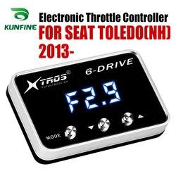 Elektroniczny regulator przepustnicy Racing akcelerator wspomagacz dla SEAT TOLEDO (NH) 2013-2019 części do tuningu akcesoria
