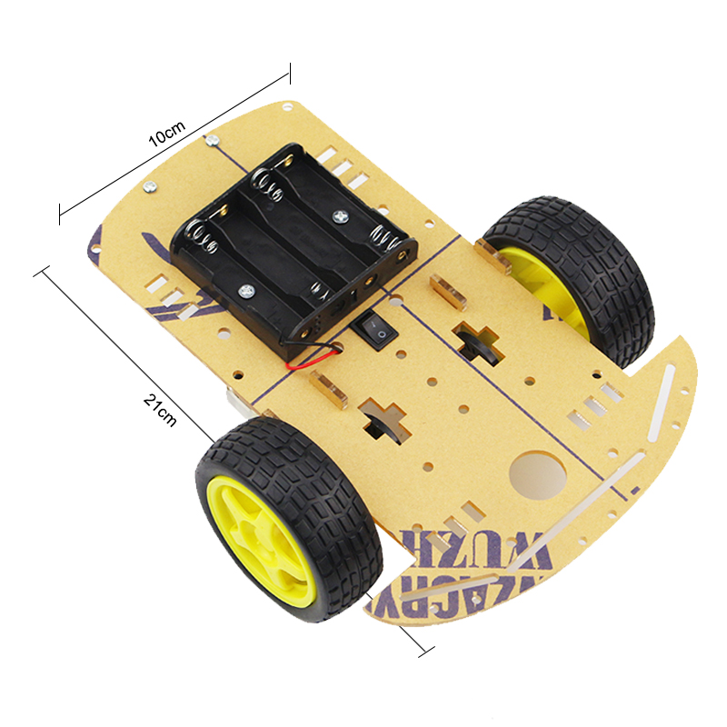 Motor Smart Robot Car Chassis Kit Electronic Manufacture DIY Kit Speed Encoder Battery Box 2WD For Robot Raspberry Pi 3