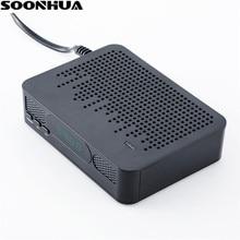 SOONHUA K3 DVB T2 Set Top Box HD 1080 P Decodificador de Vídeo Receptores de Satélite PVR H.264 Digital Caixa de TV Plug UE Com Controle Remoto controlador