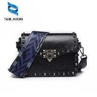 New Women Diamonds Colorful Rivet Saddle Bags Luxury Clutch Purse Neverfull Handbag Colorful Strap Shoulder Crossbody