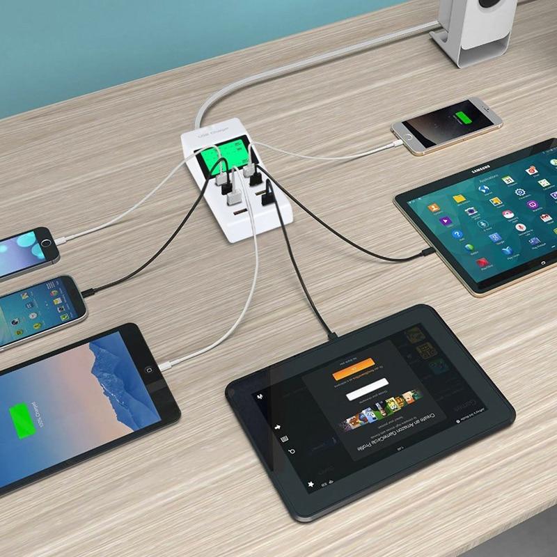 INGMAYA 8 Port USB Charger Daya 5V8A LCD Display Untuk iPhone 5 5 S 6 - Aksesori dan suku cadang ponsel - Foto 5
