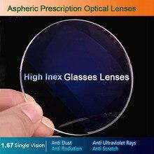 1.67 singola Visione Vetri Ottici Occhiali Da Vista per Miopia/Ipermetropia/Presbiopia Occhiali Da Vista CR 39 Obiettivo Della Resina Con Rivestimento
