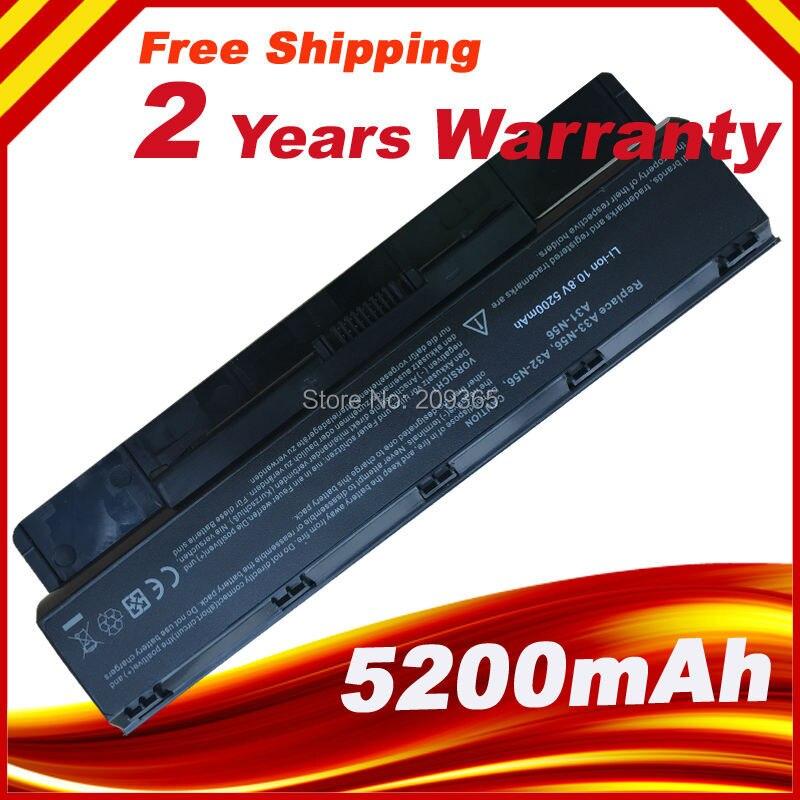 5200 mAh batterie D'ordinateur Portable Pour Asus N56 N56D N56J N56JK N56JN N56V N76 N76V R401 R401J R401V R501 R501D R501J R501V R701 R701V