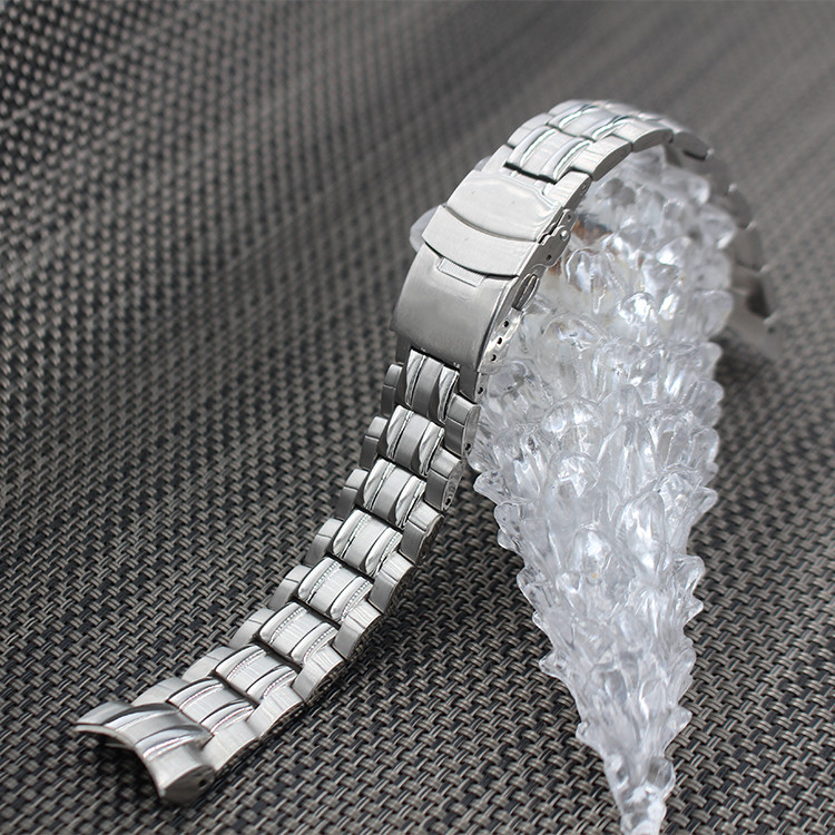 Watch Accessories Solid Steel Watch With Men For Casio EF-550D Stainless Steel Metal Bracelet 22mm