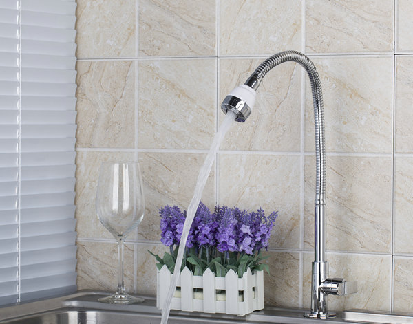 Chrome Kitchen Swivel Faucets Brand DL8551 4Wholesale And Retail Brass Water Tap Vessel Sink Faucets Mixers
