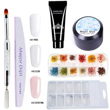6pcs/Lot Poly Gel Set Nails Acrylic gel  Kit Quick Building Builder Extension Camouflage UV LED Lacquer Brush Nail Tips
