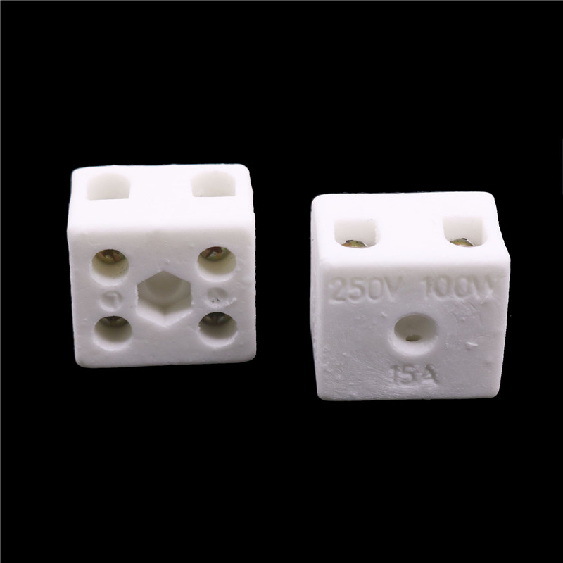 2 Pcs Ceramic Post Terminal Blocks 15A 250V Home Improvement Electrical Equipment Supplies Connectors Terminals Connectors
