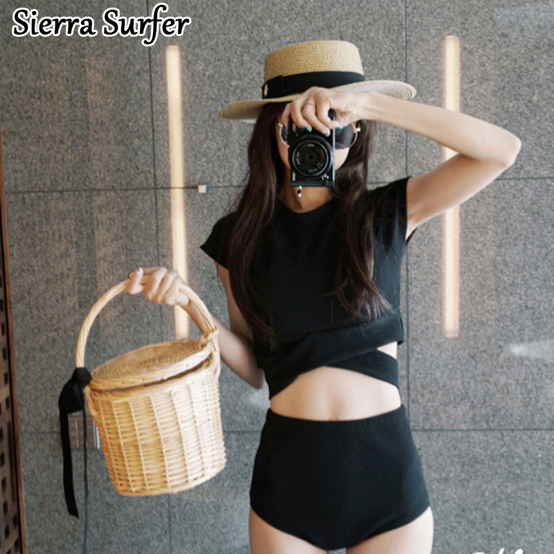 Sexy Swimsuit Women Swim Wear Suit Surf Push Up Bikini Tops Plus Size Swimwear Women 2018 New Swimsuit Korea Sexy Black High the daily village perfect canada white skirt turquoise barely there tops wear hollywood miss picture universe panache bikini