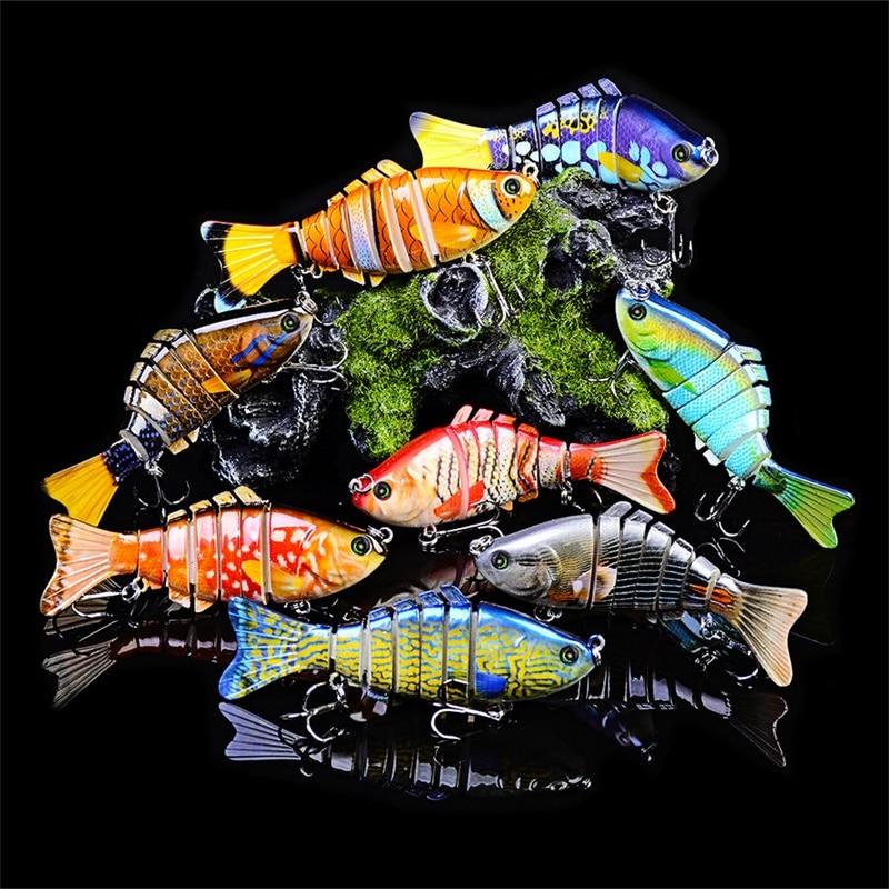 13pcs/lot Fishing Lure set 10cm 15g multi jointed hard bait Kit Wobblers 7 Segments Bionic joint carp lures Swimbait