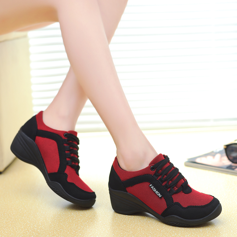 New Women Sneakers 2018 Mesh Women Shoes Womens Causal Shoes Fashion Breathable Walking Shoes Women Swing Wedges Shoes