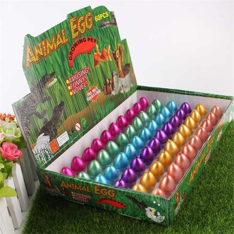 60 in 1 Magic Dinosaur Eggs Toys Water Growing Dinosaurs Novelty Gag 60pcs Toy creative For Child Kids Educational Funny Gifts