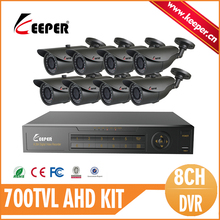 KEEPER Surveillance DVR Package with 8pcs 700TVL Sony  CCD 960H three.6mm Lens Mini Bullet Outside Waterproof Safety CCTV Digital camera