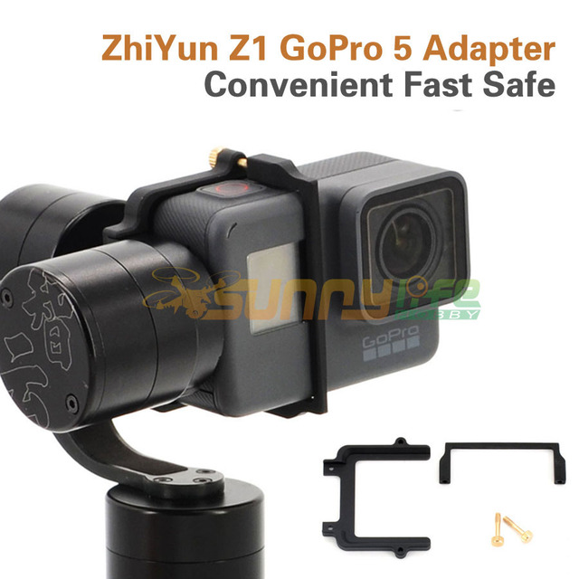 Adaptador gopro hero 5 cardan estabilizador para zhiyun z1 evolução instalação rápida e segura