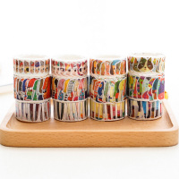 3 Pcs Lot Cute Cartoon Cat Clothing Washi Tape DIY Decorative Scrapbooking Sticker Planner Masking Adhesive