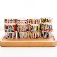 3 Stks/partij Leuke cartoon kat kleding washi tape DIY decoratieve scrapbooking sticker planner masking plakband label