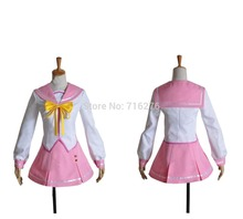 Kisstyle Fashion Anime Itsuka Tenma no Kuro Usagi Tatto Kurogane High School Girl Paño Cosplay Uniforme, Cualquier Tamaño