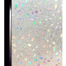 Funlife 30/45/60x200cm 3D Privacy Decorative Window Film Static Cling Glass No Glue Anti-UV Sticker Home And Office