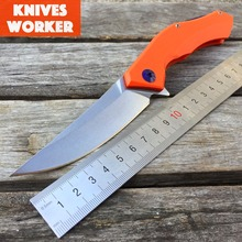 LDT Blue Moon Tactical Folding Blade Knife Stone Wash D2 G10 Handle Ball Bearings Camping Hunt Knife Survival Outdoor EDC Tools