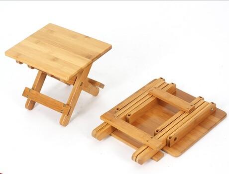 Per bambini sgabelli scuola materna di bambù piazza pieghevole