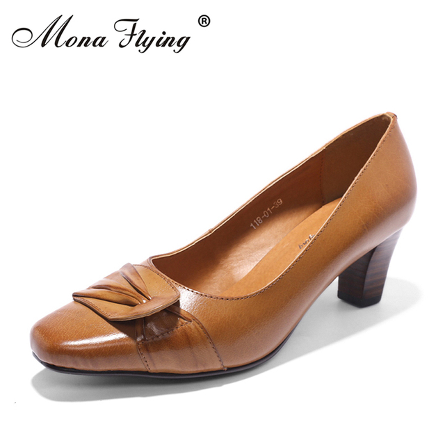 Women S Pumps Shoes 2018 Brand Genuine Leather Office Hight Heels Dress