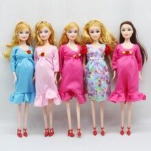 1 шт., обучающая настоящая кукла для беременных, костюмы, кукла для мамы, есть ребенок В ЖИВОТИКЕ для куклы Барби, детская игрушка er027