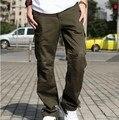 В стиле милитари армия брюки-карго мужчины нескольких карманный комбинезоны мужчины весна осень мужчины брюки-карго Pantalon Homme Большой размер XXXL