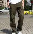 Estilo militar do exército carga calças Multi bolso macacão primavera outono homens carga calças Pantalon Homme Plus Size XXXL