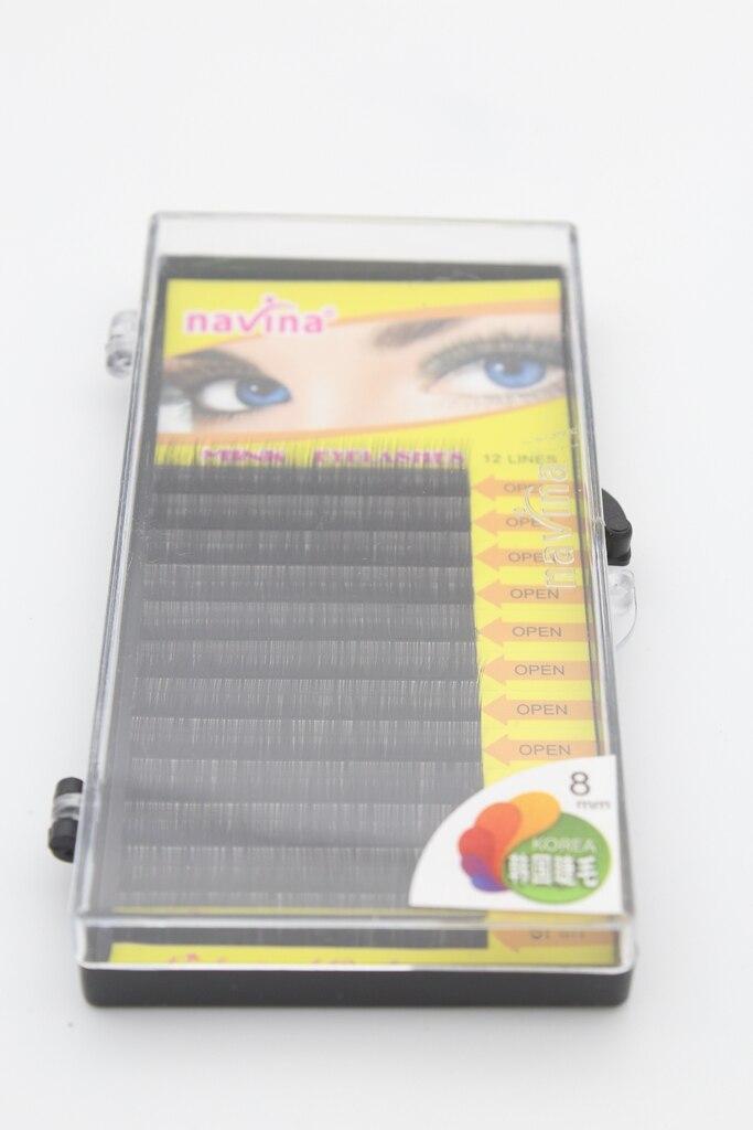 1 CASE NAVINA Individual Mink Eyelashes Human Hair False Eyelash Extension Makeup Tool Fake Eye Lashes Free shipping