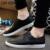 LIN REY de Los Hombres Ocasionales Sólidos Zapatos de Cuero con cordones del Tobillo Punta estrecha Plataforma Pisos Holgazanes Perezosos Zapatos de Verano Transpirable para el Hombre