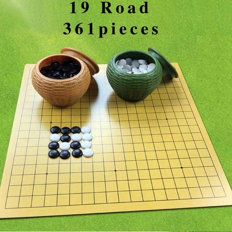 BSTFAMLY New Yunzi Go Chess 19 Road 361 Pcs/Set Chinese Old Game of Go Weiqi International Checkers Folding Table Toy Gifts LB17 handbook of international economics 3