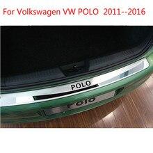 Высокое качество нержавеющая сталь наружная дверь подоконник Накладка охранники крышка Накладка авто для Volkswagen VW POLO 2011-2016