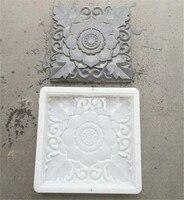 1PCS DIY Square Plastic Garden Pavement Molds Mould Courtyard Wall Brick Carving Paving Concrete Brick Plastic Mould 40*40*3/6cm