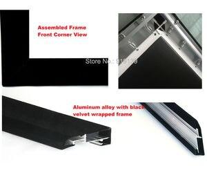 Image 3 - Écran de Projection cinéma bon Gain 16:9 écrans de projecteur à cadre fixe incurvé 120 pouces HD blanc mat pour laffichage cinéma 3D