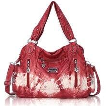 Angel Barcelo Blue Soft Tie-dyed Handbag Women PU Leather Single Shoulder Bags Casual XS161513Z