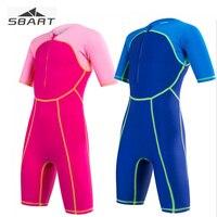 Sbart Boy Girl One Piece Swimwear Children Kids Nylon Lycra Shorty Swimsuit Swimming Bodysuits Bathing Suits Rash Guard