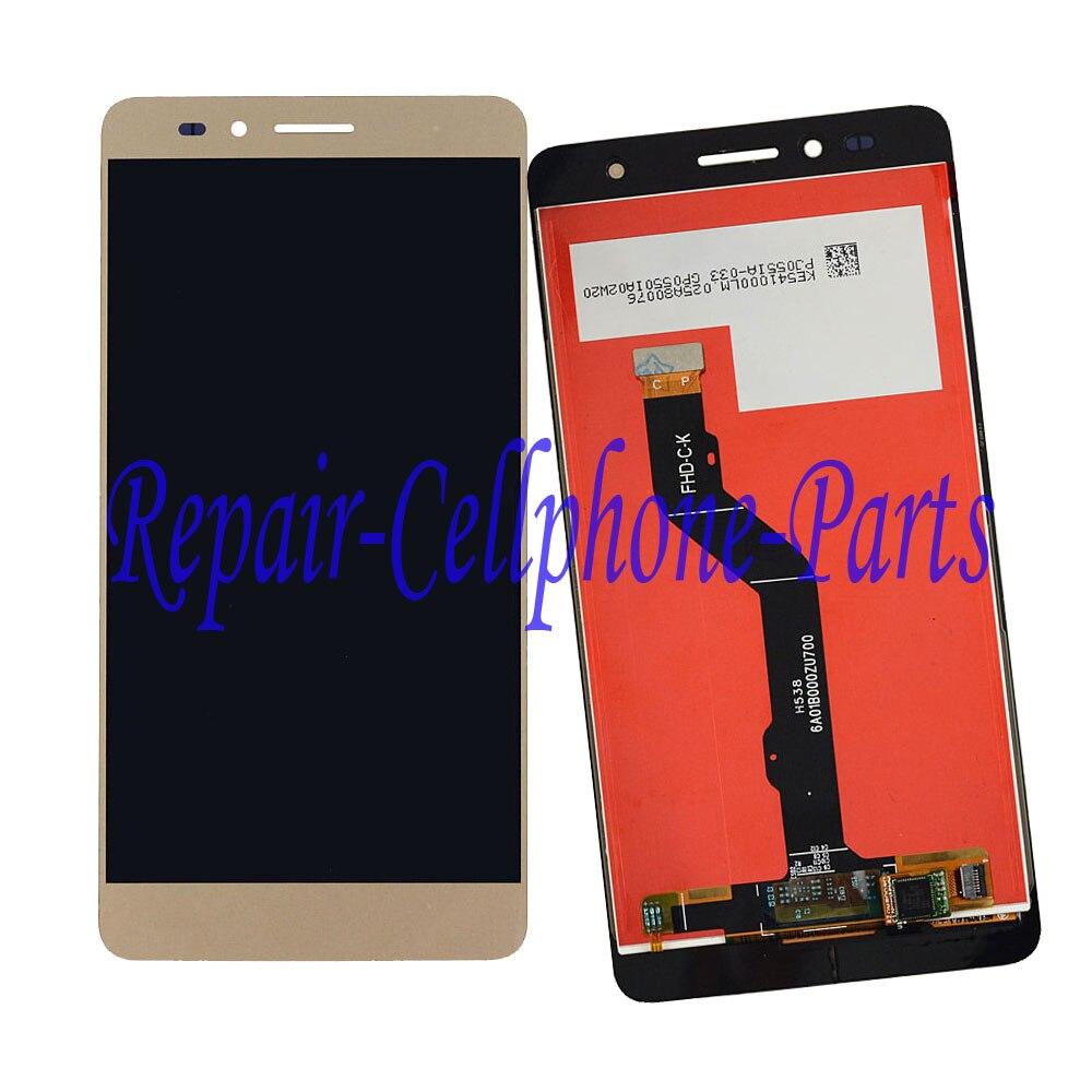 Золото Полный ЖК-дисплей + сенсорный экран планшета стекло объектива Замена тяга для Huawei Honor 5X KIW-AL10 KIW-L21 KIW-L22