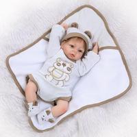 42cm Bebe Reborn Boys Doll 16 Inch Newborn Baby Alive Dolls Realistic Soft Silicone Limbs Cloth Body Toys Children Birthday Gift