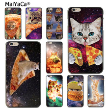 MaiYaCa Pizza cat in space Colorful Phone Accessories Case for  iPhone 8 7 6 6S Plus X xs max xr 5 5S SE 11pro case Cover