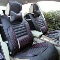 Autositzbezüge auto sitzkissen cover universal leder auto sitzkissen mit auto leoparden lendenkissen vollen satz