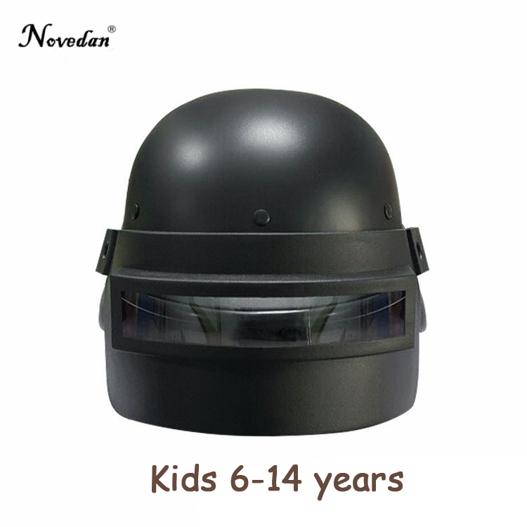 <font><b>Pubg</b></font> <font><b>Level</b></font> <font><b>3</b></font> <font><b>Helmet</b></font> Cosplay Costumes Playerunknown's Battlegrounds Eat Chicken Mask Halloween For Kids Boys 6-15 years image